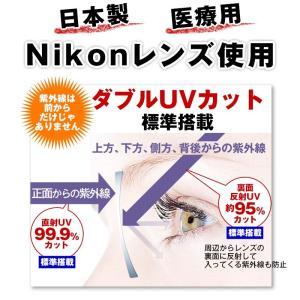《度付きメガネ》おうちメガネ (フレームおまかせ) (度入りレンズ+めがね拭き+ケース付)度付き 度入り Nikon医療用レンズ使用 ダブルUVカット|bonita|02