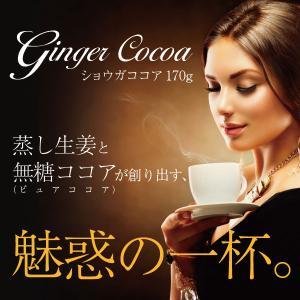 無糖ショウガココア 170g メール便送料無料 しょうが 生姜|bonita