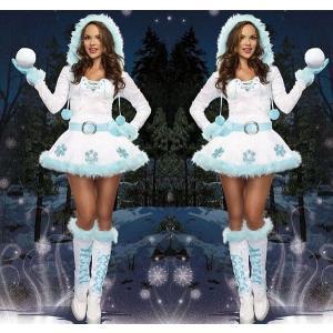 【送料無料】クリスマス 雪だるま サンタクロース コスプレ レディース 女性用 仮装 コスチューム