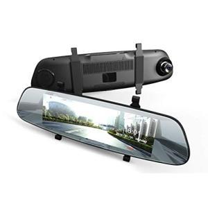 DuDuBell ドライブレコーダー バックミラー型 7インチタッチパネル 前後カメラ GPS AD...