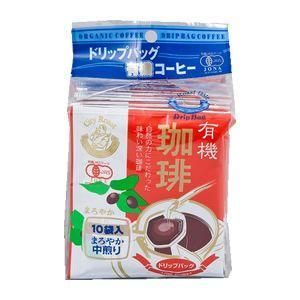 三洋産業 ドリップ式 有機珈琲 まろやか中煎り(10袋)|bonraspail