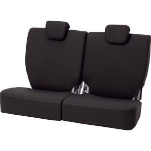 ボンフォーム 軽自動車リヤ[後]席用シートカバー [カラードカバー] 軽リア分割 ブラック|bonsan