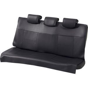 軽自動車からコンパクトカーの後席に!レザー調フリーサイズシートカバー [グランドレザー] リヤ(枕カバー3枚付属)席用 ブラック/黒|bonsan