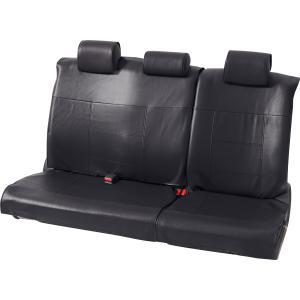 ミニバン セカンドシート(背・座 6:4分割シート)用レザー調フリーサイズシートカバー [グランドレザー] リヤ(枕カバー3枚付属)席用 ブラック/黒|bonsan