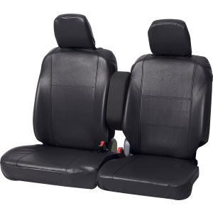 軽自動車 フロント席ベンチシート用レザー調フリーサイズシートカバー [グランドレザー] 前席用 軽ベンチフロント ブラック/黒|bonsan