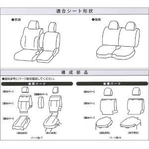 [JJ1/JJ2]ホンダ[N-VAN]専用撥水加工布シートカバー防水効果!【車1台分フルセット】M4-68 ブラック/黒 工具不要|bonsan|04