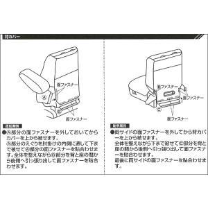 [JJ1/JJ2]ホンダ[N-VAN]専用撥水加工布シートカバー防水効果!【車1台分フルセット】M4-68 ブラック/黒 工具不要|bonsan|06