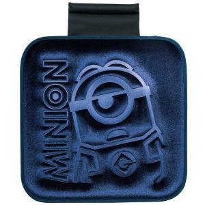 [MINIONS]ズレ防止ストッパー付シングルクッション 『ミニオンプレス』 (約45×45cm)ネイビー|bonsan