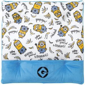 [MINIONS]綿入りシングルクッション サイズ:約45×45cm[ミニオンパターン] ホワイト|bonsan