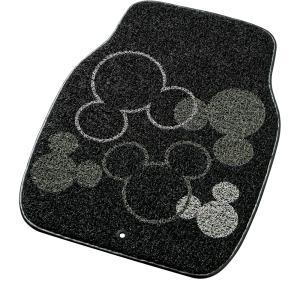 Bonform疲れにくい優れたクッション性&お手入れ簡単丸洗いOK![ミッキーマウス]コイルマット ブラック|bonsan