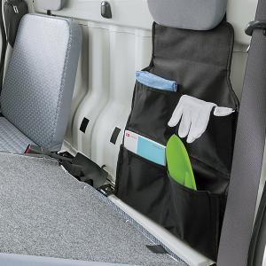 軽トラック用  防水加工 生地使用 収納ケース 軽トラ シートバックポケット ブラック/BK|bonsan
