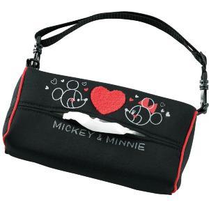 【Mickey Minnie Heart】ティッシュカバー 『ミッキーミニーハート』 吊り下げ用ストラップ付き(6cm厚まで対応)|bonsan
