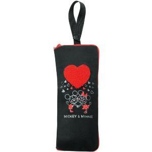 【Mickey Minnie Heart】折り畳み傘カバー 『ミッキーミニーハート』 500mlペットボトル入れにも|bonsan