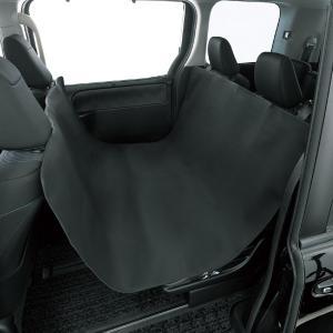抗菌防臭加工 撥水 荷室シートカバー 防水デオ 125×160cm 汎用 後席1枚 ブラック|bonsan