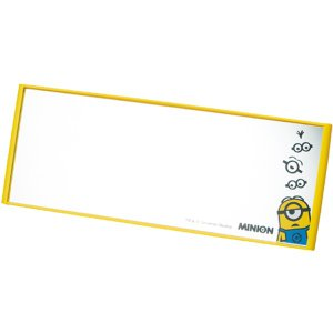 [MINIONS]スモークガラスやプライバシーガラスにも最適!ルームミラー ミニオン イエロー(約240X90mm)|bonsan