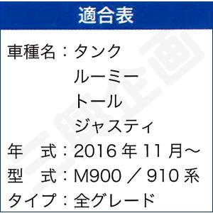 [ボンフォーム]ラゲッジスペースの必需品/ウェットスーツ素材で防水![M900/910]トヨタ タンク・ルーミー専用『ネオラゲージマット』ブラック M5-25 bonsan 04