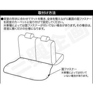 [ボンフォーム]ラゲッジスペースの必需品/ウェットスーツ素材で防水![M900/910]トヨタ タンク・ルーミー専用『ネオラゲージマット』ブラック M5-25 bonsan 05