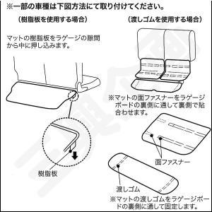 [ボンフォーム]ラゲッジスペースの必需品/ウェットスーツ素材で防水![M900/910]トヨタ タンク・ルーミー専用『ネオラゲージマット』ブラック M5-25 bonsan 06
