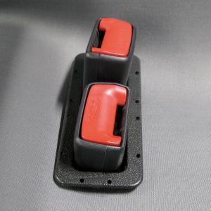 シートベルトホール 普通車用縦2列タイプ 2個セット【後部座席シートベルト着用義務化対策品】|bonsan