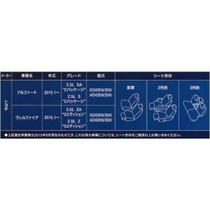 【在庫有/即納】トヨタ[30系]アルファード/ヴェルファイア(7人乗り)専用 ソフトレザーRシートカバー 1台分フルセット W7-34 ブラックレザー/ブラックステッチ|bonsan|03