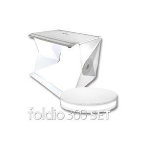 スタジオ照明キット+ターンテーブルSET foldio 360 + foldio2 【送料無料】 スマホ 全方位 撮影 全周写真 商品画像 フリマ bonz