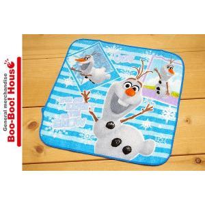 ミニタオル プチタオル ハンカチ ディズニー アナと雪の女王 オラフ 水色 ストライプ #12|booboohouse