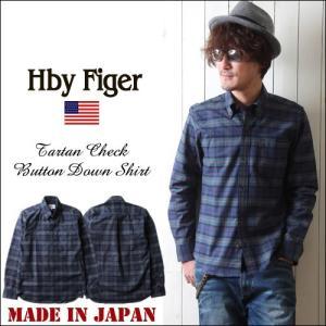 HbyFiger 日本製 6釦 タータンチェック ボタンダウンシャツ エイチバイフィガー メンズ アメカジ 送料無料|boogiestyle