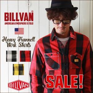2017秋冬 BILLVAN ワークタイプ ブロックチェック ヘビーネルシャツ 002BC チェックシャツ メンズ アメカジ ビルバン 送料無料