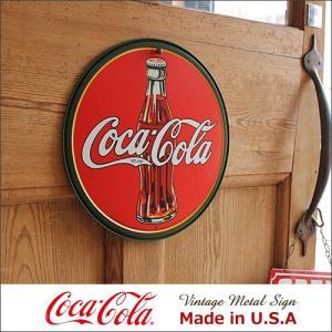 コカ・コーラ 30's Bottle Logo メタル・サイン ブリキ看板 Made in USA/...