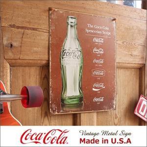 コカ・コーラ Script Heritage メタル・サイン ブリキ看板 Made in USA/1...