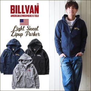 パーカー BILLVAN チェーン刺繍 スウェットZIPパーカー ビルバン メンズ アメカジ boogiestyle