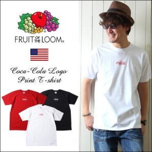 FRUIT OF THE LOOM コカ・コーラ フロントミニロゴ 半袖クルーネックTシャツ メンズ アメカジ ccrs1|boogiestyle