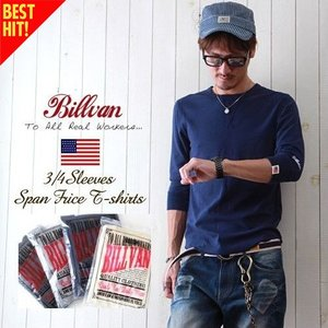 Tシャツ BILLVAN スパンフライス フィットスタイル 7分袖Tシャツ アメカジ パックシリーズ...