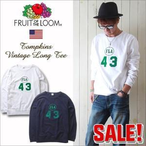 FRUIT OF THE LOOM フルーツオブザルーム ヴィンテージプリント スウェット型ロングTシャツ メンズ アメカジ 冬物
