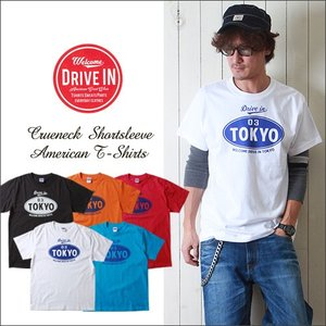 DRIVE IN TOKYO クルーネック・アメカジプリントTシャツ メンズ アメカジ|boogiestyle