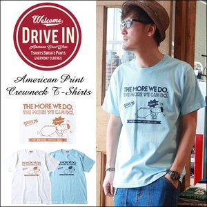 Tシャツ DRIVE IN THE MORE WE DO アメカジプリント Tシャツ|boogiestyle