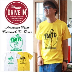 Tシャツ DRIVE IN ORANGE JUICE アメカジプリント Tシャツ|boogiestyle