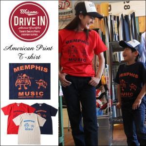 Tシャツ DRIVE IN Memphis Music アメカジプリント Tシャツ|boogiestyle