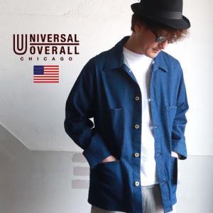 UNIVERSAL OVERALL ユニバーサルオーバーオール 10.8oz デニム カバーオール メンズ アメカジ 送料無料|boogiestyle