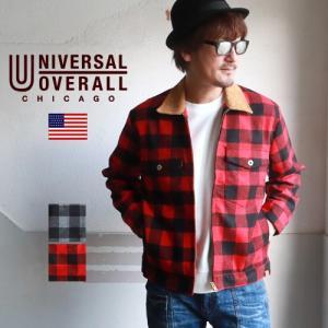 冬物クリアランスセール UNIVERSAL OVERALL バッファローチェック トラックジャケット ユニバーサルオーバーオール|boogiestyle