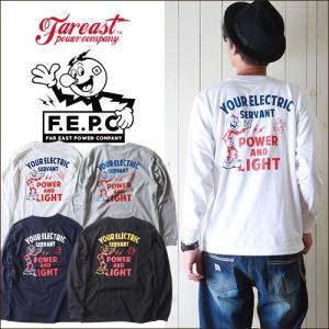ロンT F.E.P.C アメカジYOUR ELECTRICバックプリント ロングTシャツ FEPC0004 メンズ アメカジ|boogiestyle