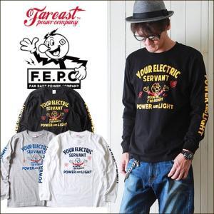ロンT F.E.P.C アメカジ フロント&袖プリント ロングTシャツ FEPC0005 メンズ アメカジ|boogiestyle