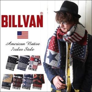 BILLVAN ネイティブ&アメリカン ジャガード・フリンジ付き 大判ストール|boogiestyle
