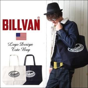 トートバッグ BILLVAN ナチュラル・キャンバス スタンダード チェッカーロゴ ・トートバッグ|boogiestyle