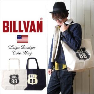 トートバッグ BILLVAN ナチュラル・キャンバス BILL88ロゴ ・トートバッグ|boogiestyle
