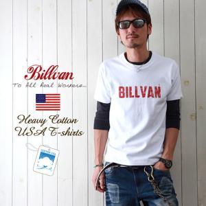Tシャツ メンズ アメカジ BILLVAN ビルバン アメカジ ヴィンテージ・ロゴ へヴィーウェイト半袖Tシャツ メンズ COTTON USA 0312|ブギースタイル