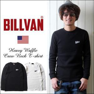 BILLVAN オールドスクールプリント ワッフル・サーマル ガゼットロングTシャツ  メンズ アメカジ 2018春新作|boogiestyle