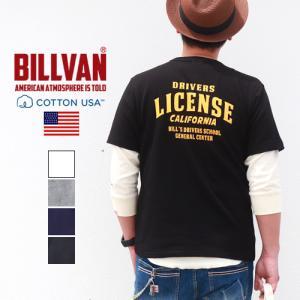 Tシャツ BILLVAN DRIVERS LICENSEバックプリント ヘビーTシャツ 210325 ライセンス ビルバン メンズ ブギースタイル