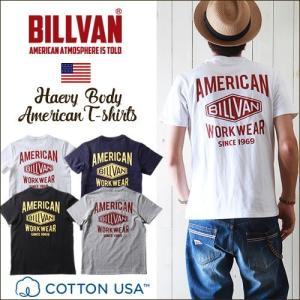 Tシャツ BILLVAN バック ダイヤロゴ アメリカンスタンダード バックプリントTシャツ 290718 ビルバン メンズ アメカジ|ブギースタイル