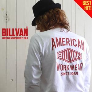 ロンT BILLVAN バックプリント ダイヤロゴ ガゼット&リブ付き ヘビーロングTシャツ BV-290718LS メンズ アメカジ|boogiestyle